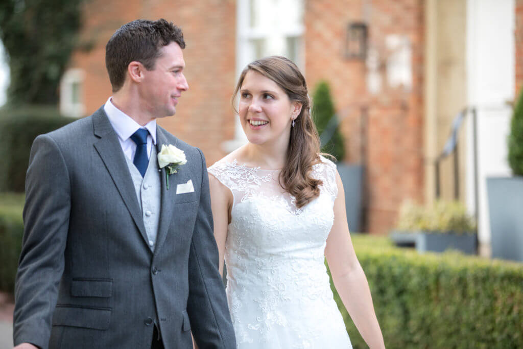 11 Bride and groom walk