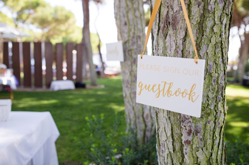 guestbook sign pine cliffs resort portugal oxfordshire wedding photography