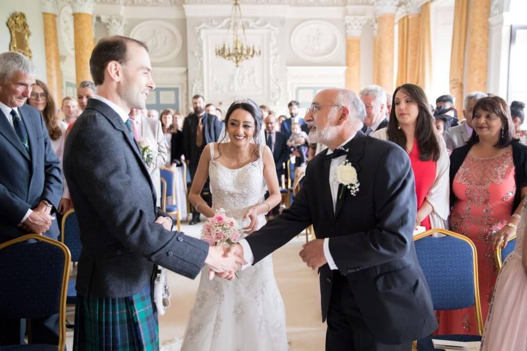 02 bride groom marriage ceremony stoneleigh abbey kenilworth warwickshire oxford wedding photographer