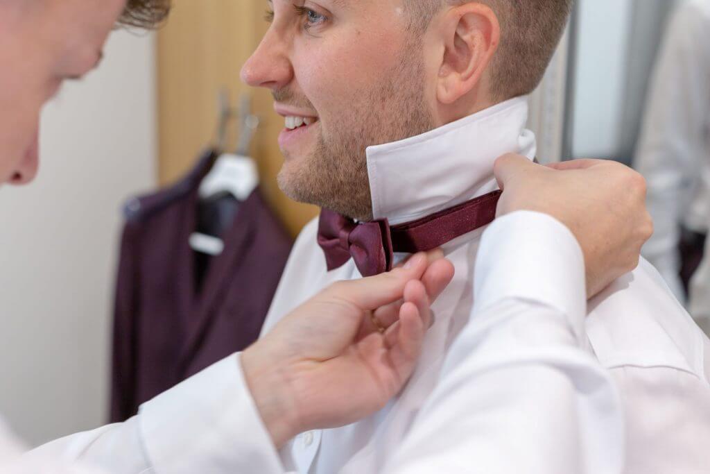 02 groom prep milton hill house wedding photography
