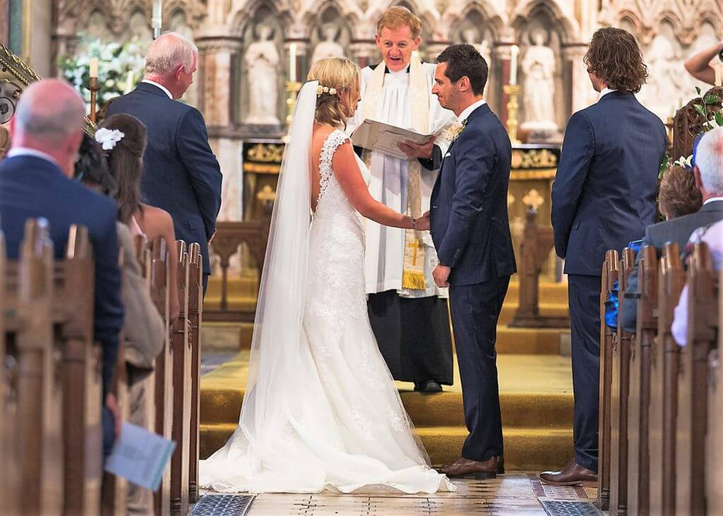 03 bride groom vicar church wedding ceremony oxfordshire wedding photographer