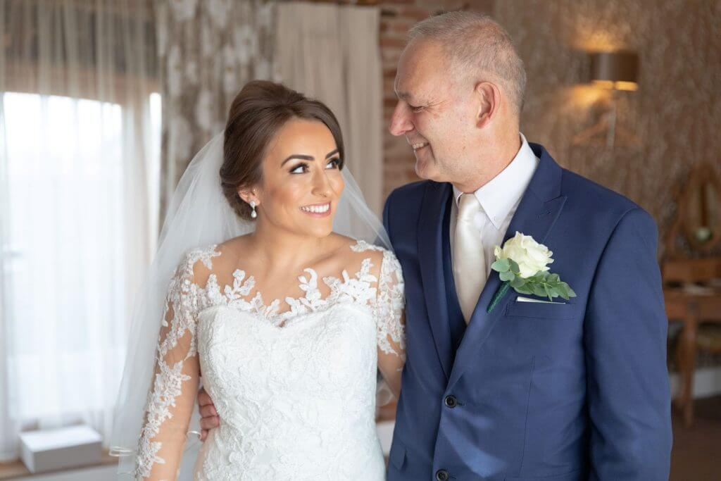 05 father of the bride and daughter mythe barn luxury venue leicestershire oxford wedding photographer