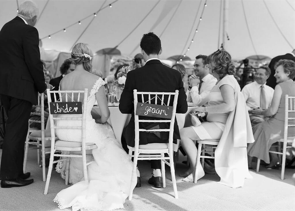 09 father of the bride gives top table speech dinner reception oxfordshire wedding photography