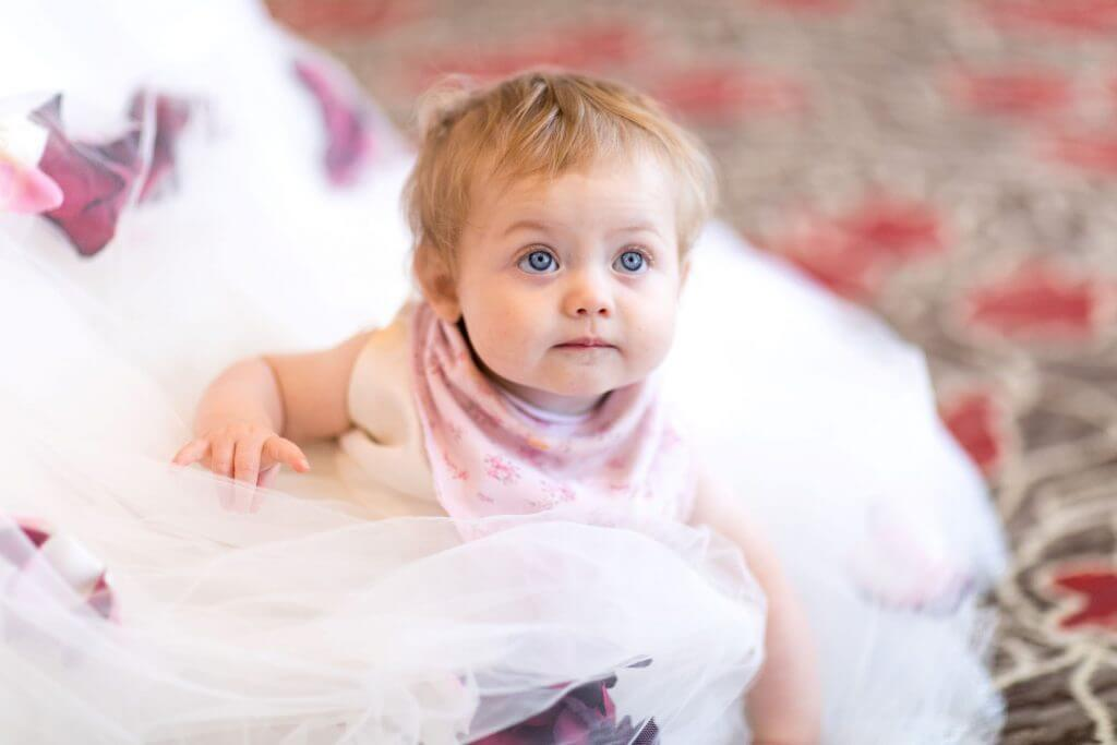 10 brides dress and toddler breakfast reception hellidon lakes northamptonshire oxfordshire wedding photography