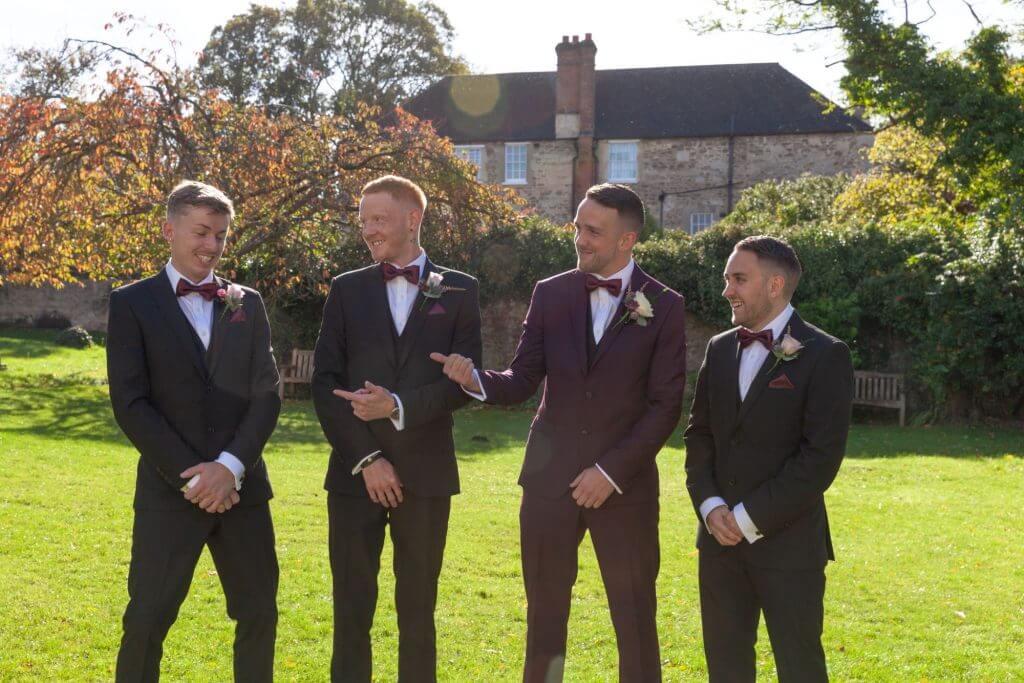 10 groom and ushers milton hill house steventon wedding photography