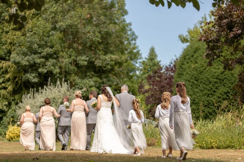 11 bridal party pre open air summer marriage ceremony oxford wedding photography