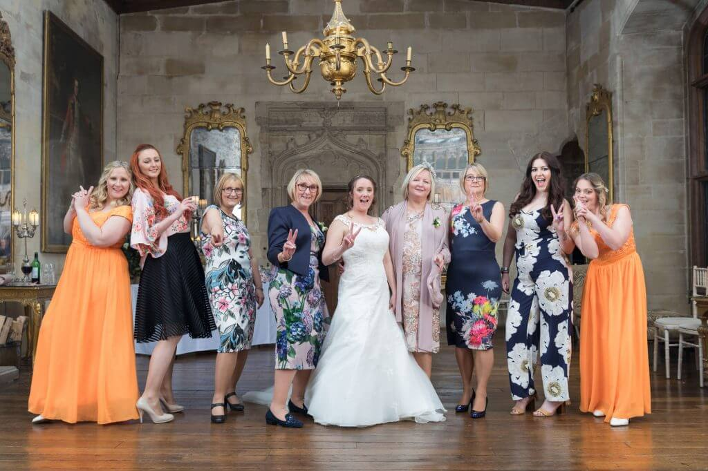 12 bridal party group berkeley castle stately home venue gloucestershire oxfordshire wedding photography
