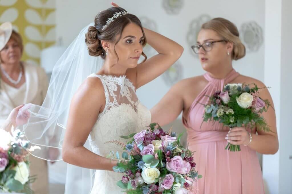 12 bride bridesmaid mother of the bride milton hill house abingdon wedding photography