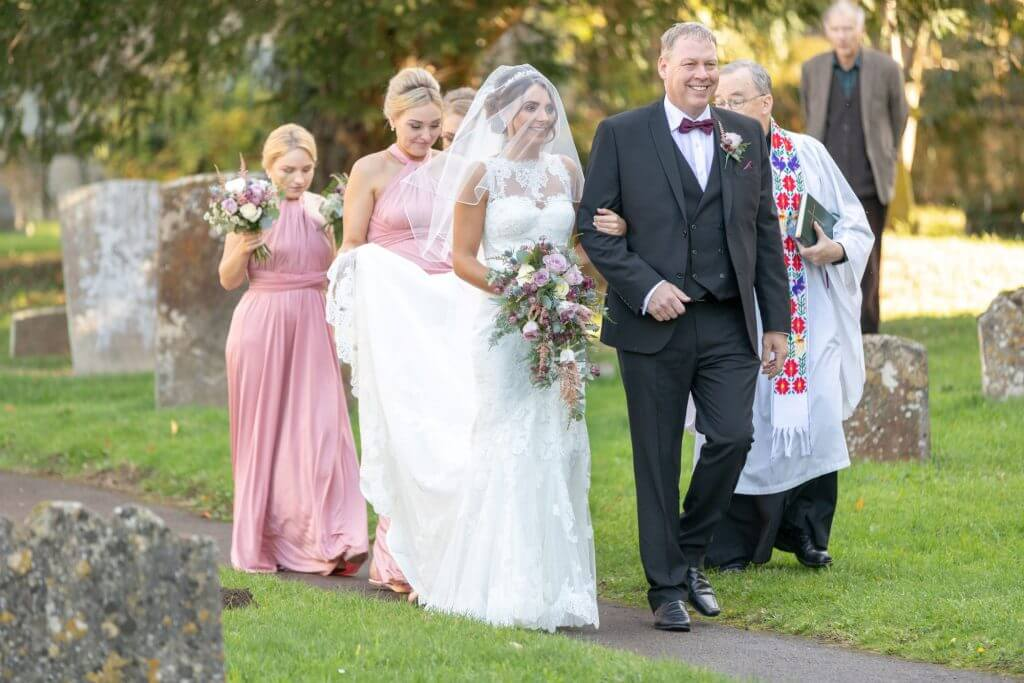 14 bride and father of the bride iffley church oxford wedding photography