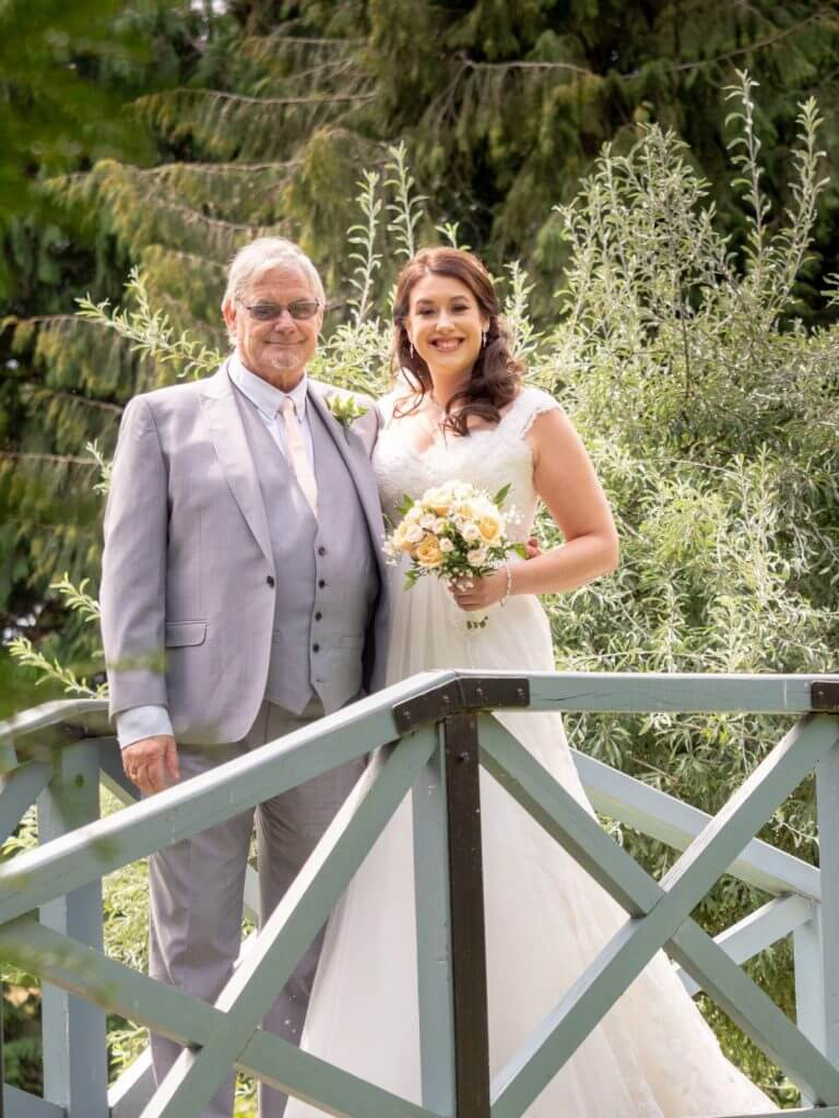 14 bride bouquet father of bride pre marriage ceremony formal portrait oxfordshire wedding photography