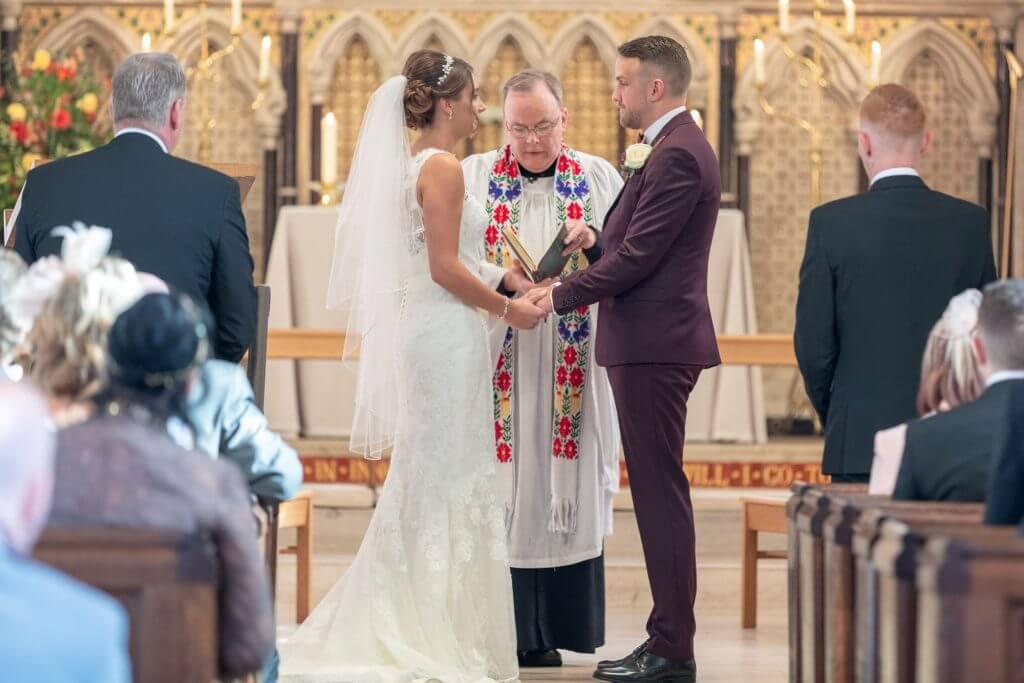 16 wedding ceremony iffley church oxford wedding photography