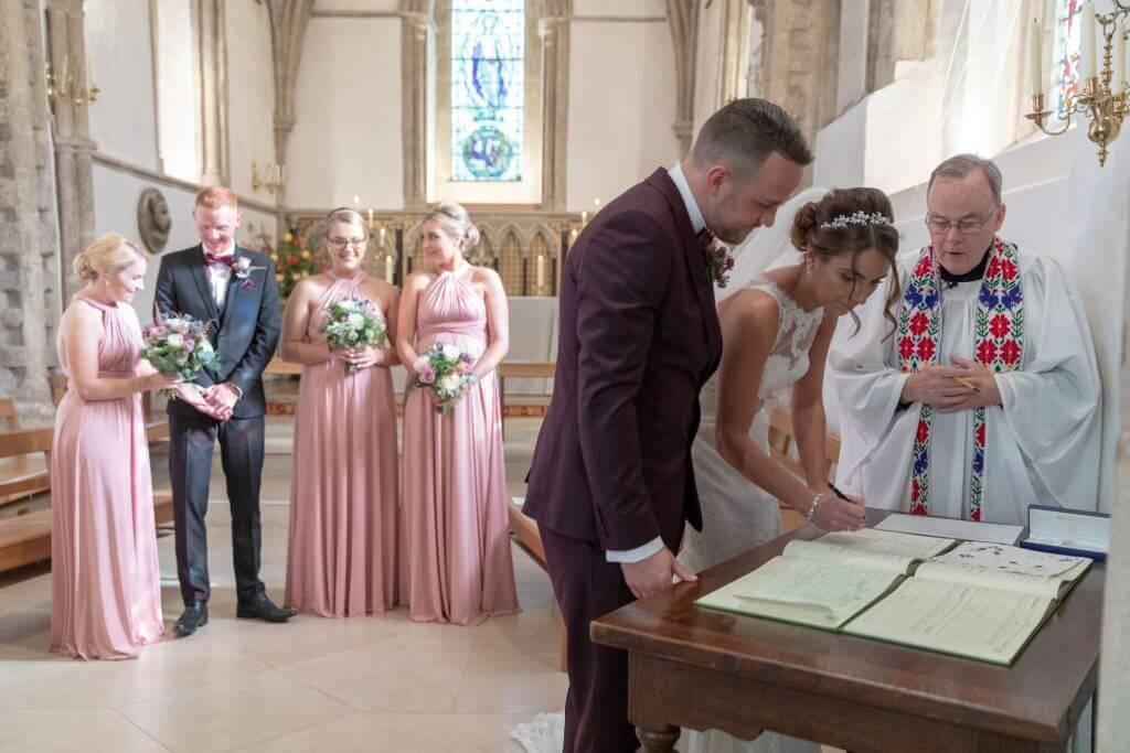 18 wedding ceremony iffley village church oxford wedding photography