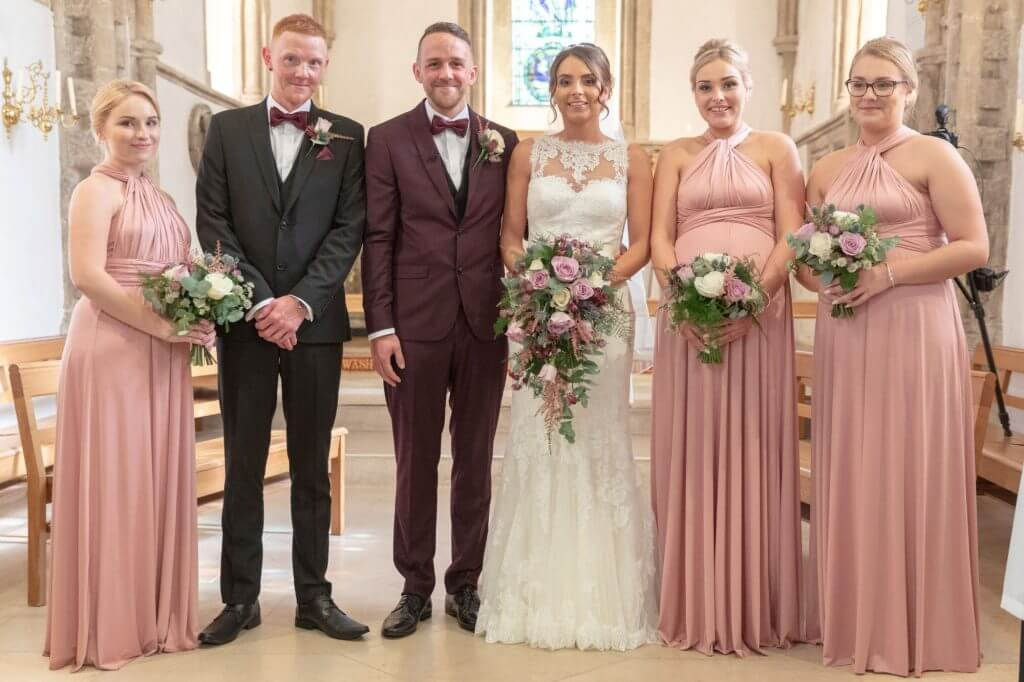 19 bridal party iffley church oxord wedding photography