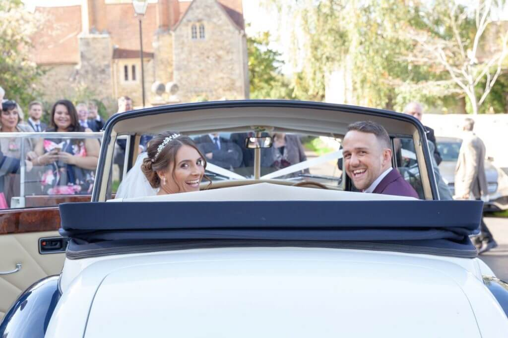 23 bride and groom just married iffley village church wedding photography