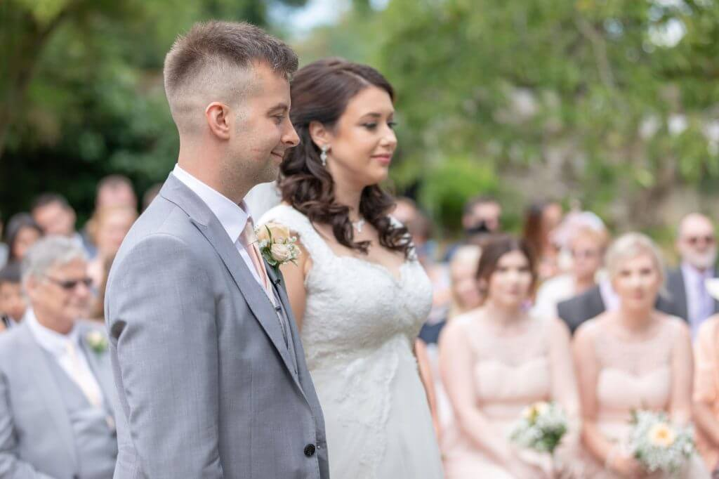 23 bride groom invited guests summer outdoor marriage ceremony oxford wedding photography