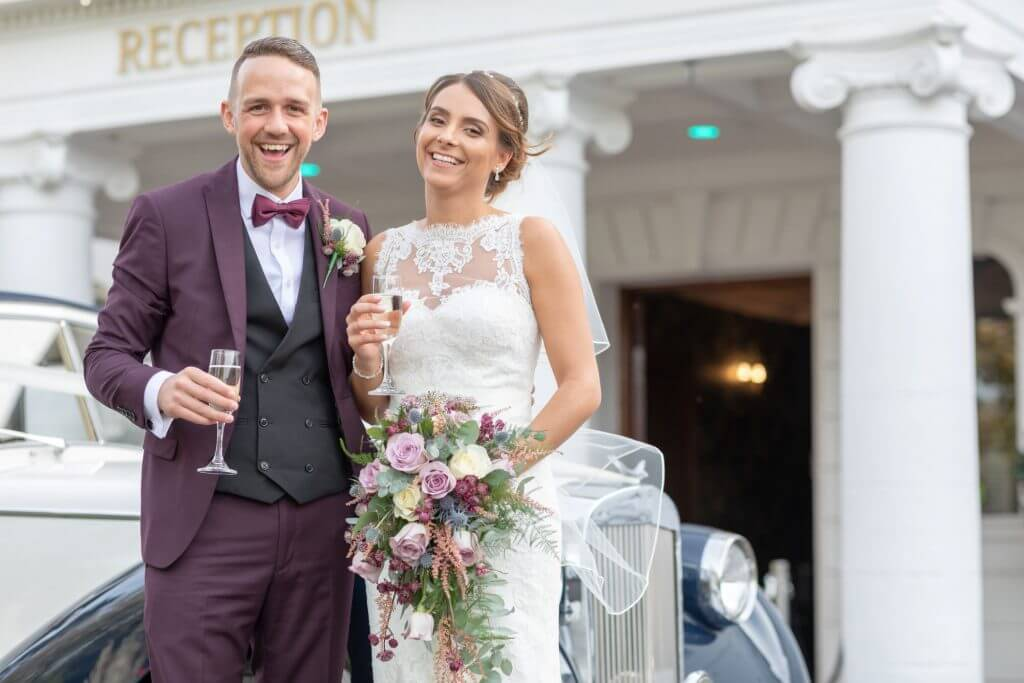 27 bride and groom champagne reception milton hill house abingdon wedding photography