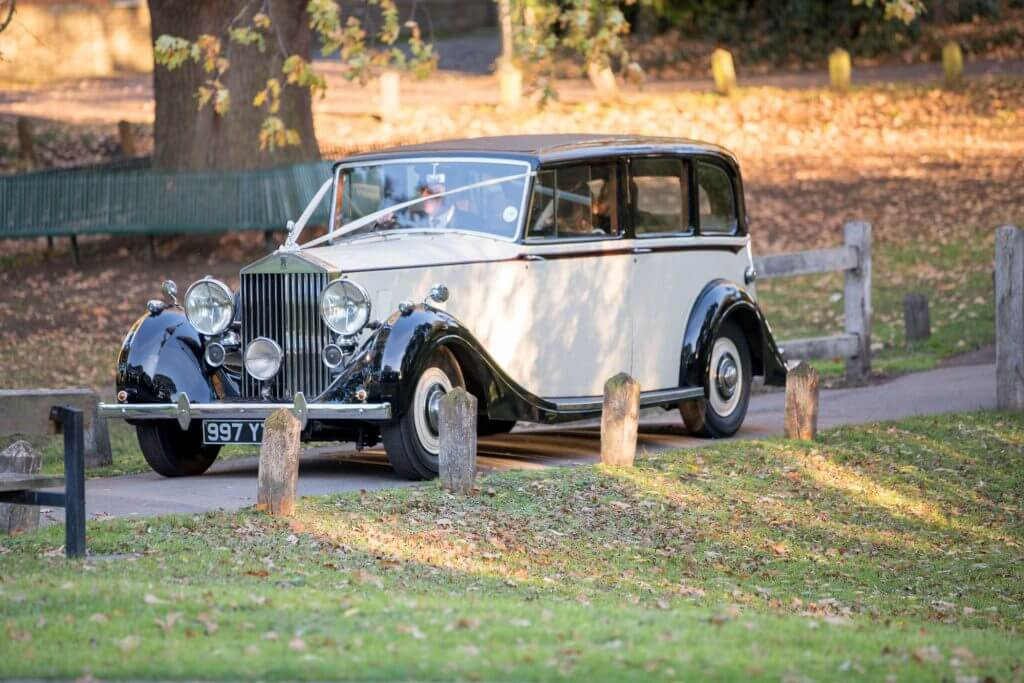 34 bridal car vintage rolls royce the great barn headstone manor harrow middlesex oxfordshire wedding photography