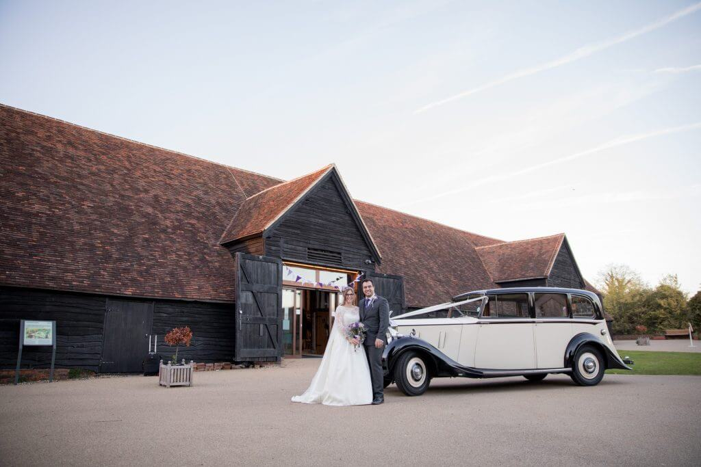 35 bride groom vintage rolls royce the great barn headstone manor harrow middlesex oxfordshire wedding photography