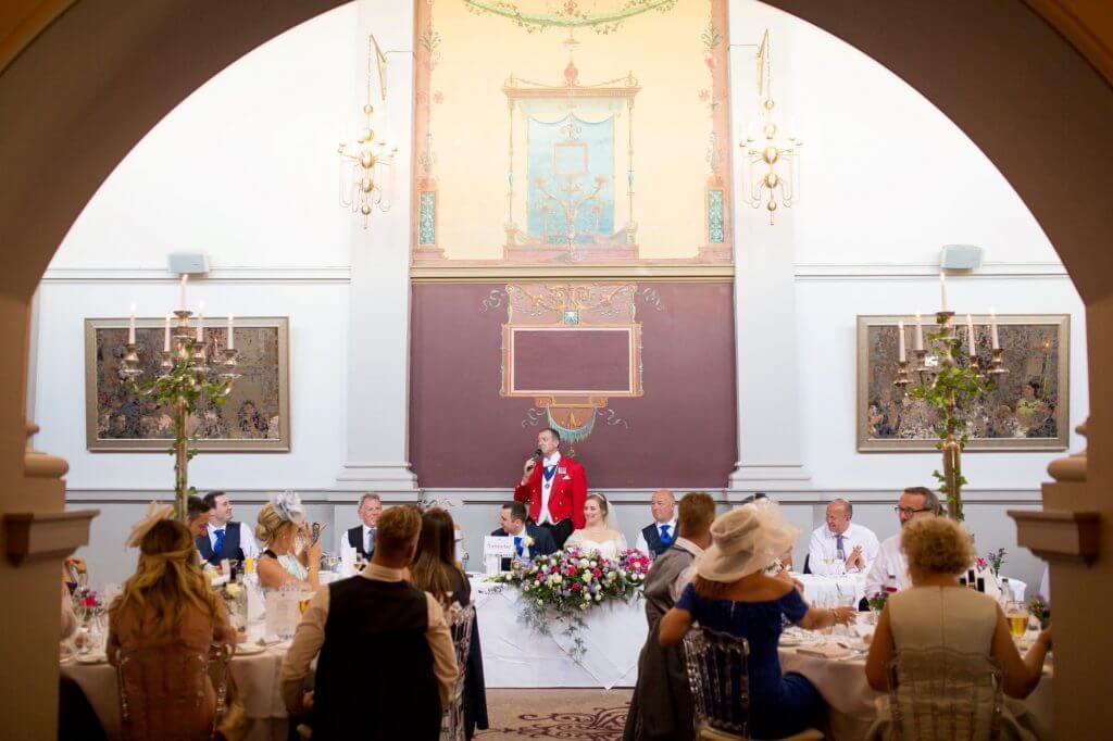 40 master of ceremonies top table reception dinner de vere beaumont estate venue windsor berkshire oxfordshire wedding photographer