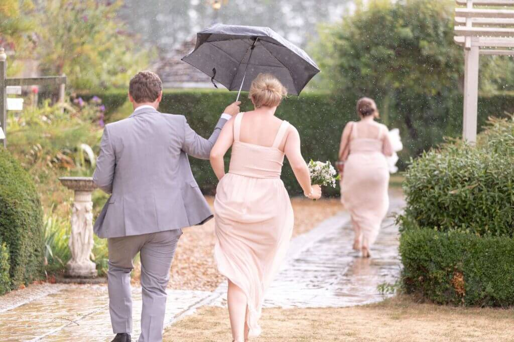 46 wedding umbrellas garden reception oxford oxfordshire photography