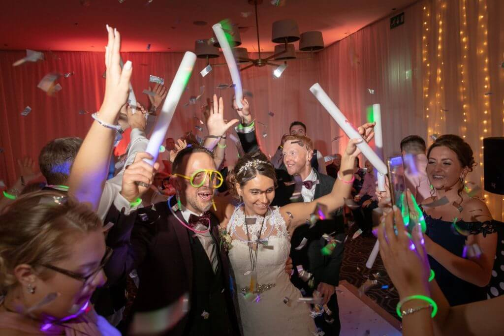 48 wedding glitter disco party reception with bride and groom milton hill house steventon abingdon oxford oxfordshire photography