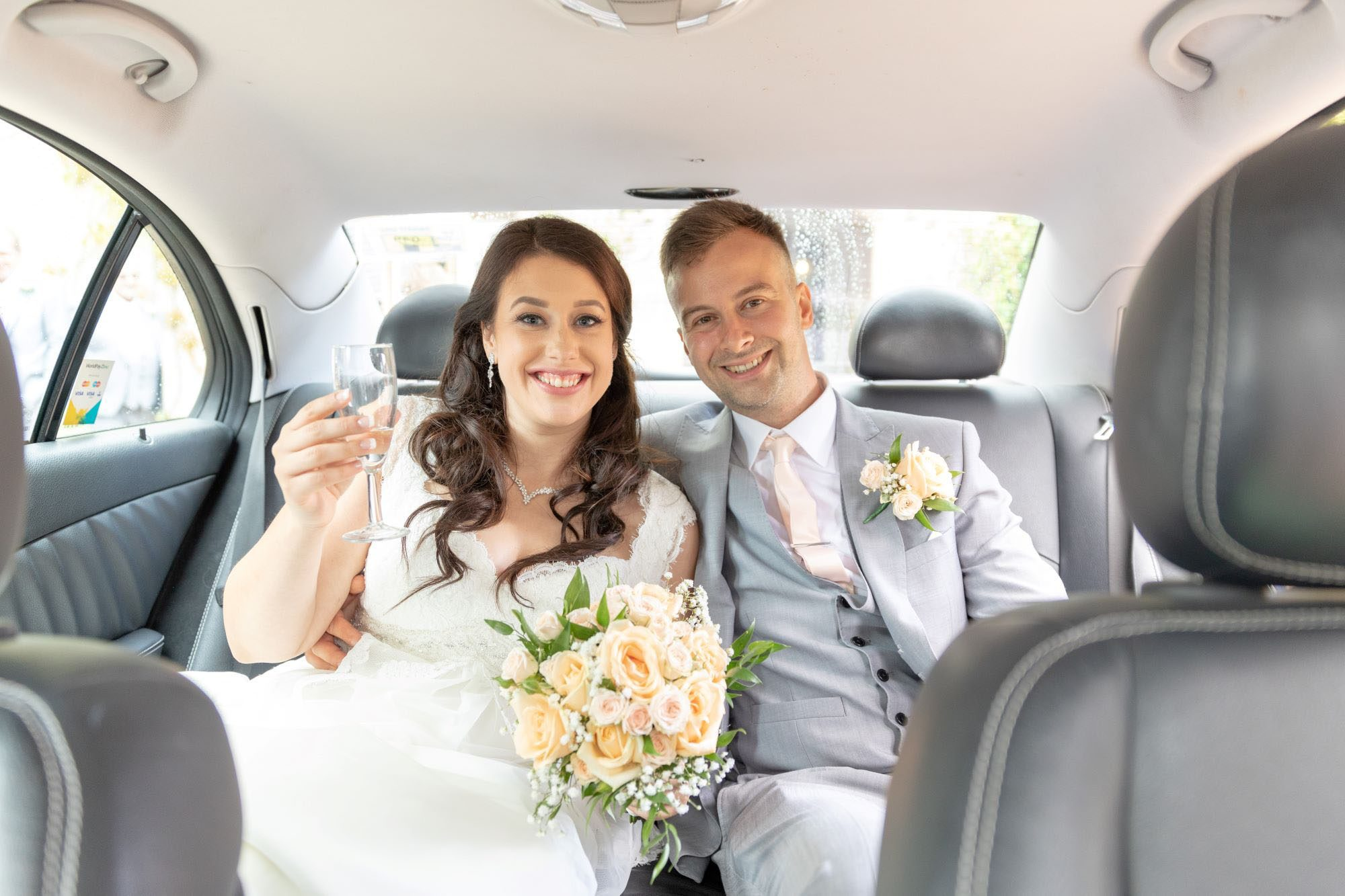 54 bride groom bridal car drink champagne cherwell boathouse venue oxford wedding photography