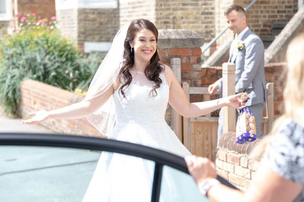 59 bride groom greet reception guest cherwell boathouse oxford oxfordshire wedding photography