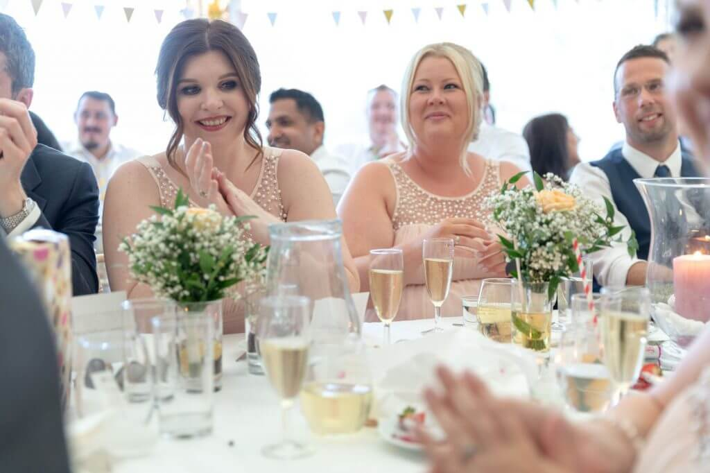 72 bridesmaids champagne riverside reception cherwell boathouse venue oxford oxfordshire wedding photographer