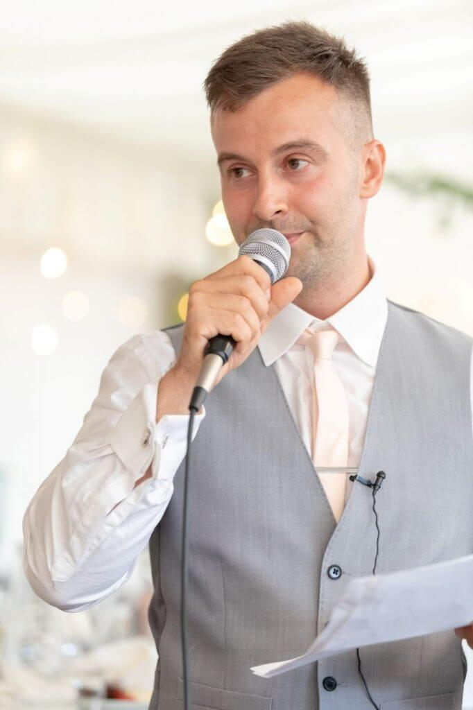 73 grooms speech champagne riverside reception cherwell boathouse venue oxford oxfordshire wedding photographer