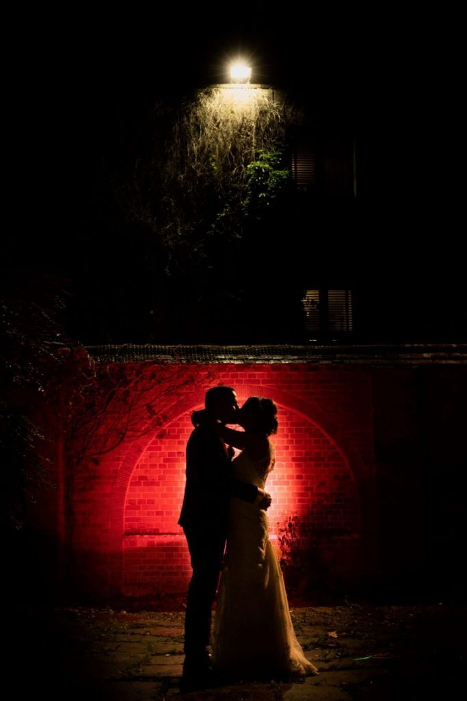Bride groom sunset reception silhouette milton hill house steventon abingdon oxford oxfordshire wedding reception 30
