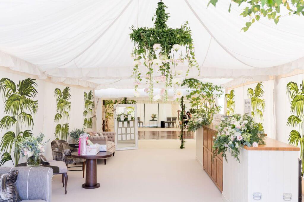 luxury marquee for dinner reception after marriage ceremony oxfordshire wedding photography 62