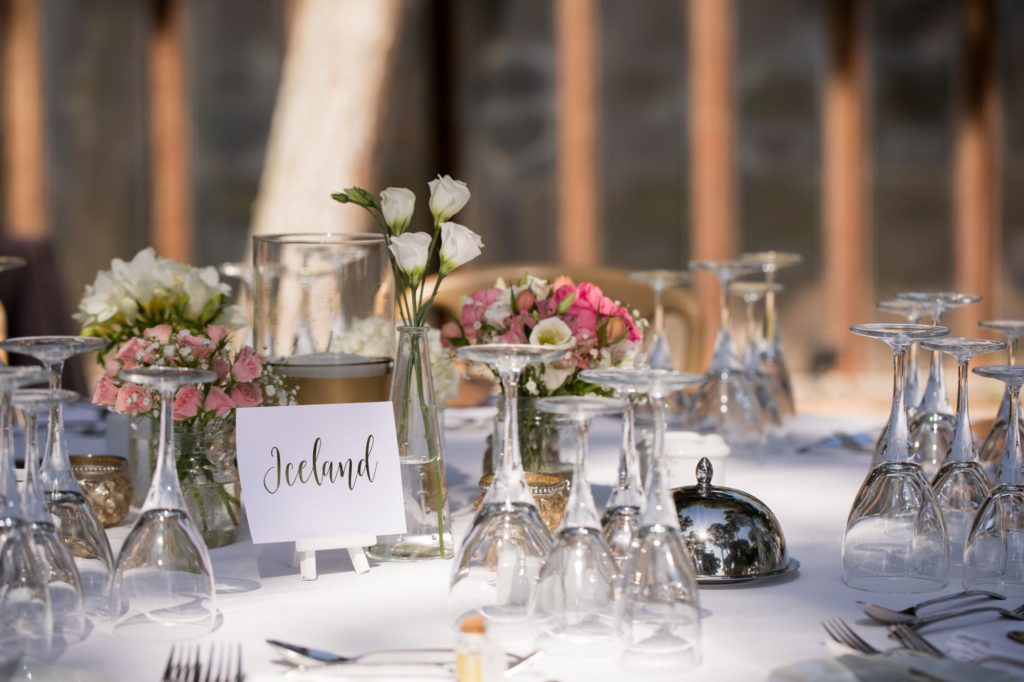 reception table setting pine cliffs resort portugal oxford wedding photographers