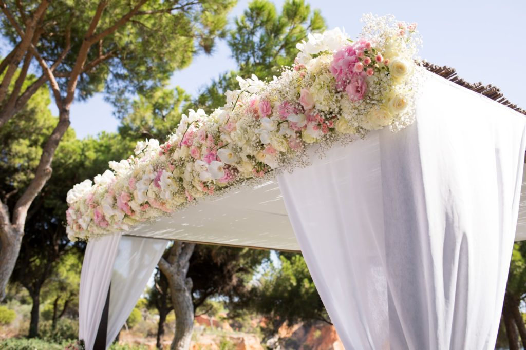 marriage ceremony flowers pine cliffs resort portugal oxford wedding photographers