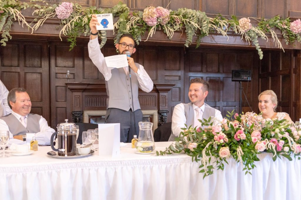 bride groom best man speech stately home venue oxford wedding photographer