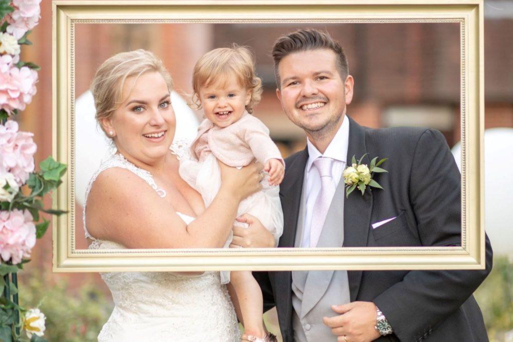 bride groom bridesmaid rose garden stately home venue oxfordshire wedding photographers