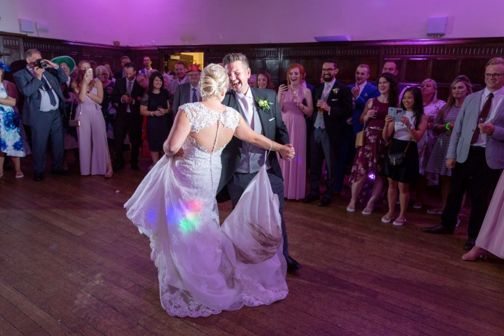 bride groom first dance stately home venue oxford wedding photographer