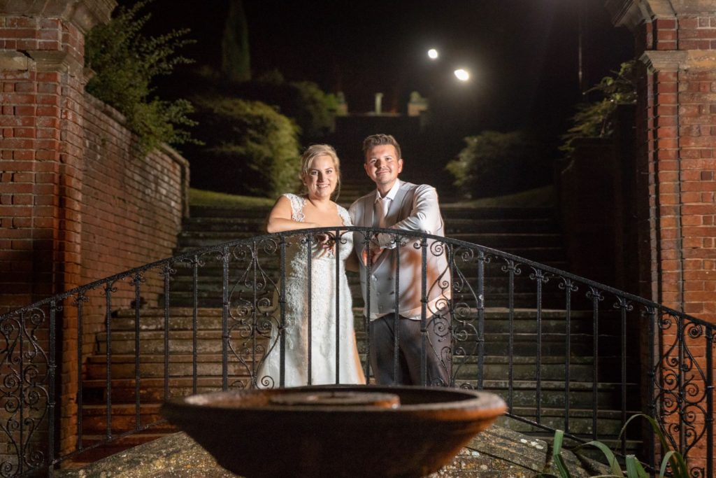 bride groom stately home venue gardens oxfordshire wedding photography