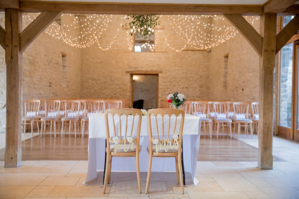 marriage ceremony layout kingscote barn tetbury oxford wedding photography