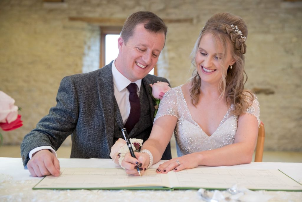 bride groom sign register kingscote barn venue tetbury oxfordshire wedding photographer