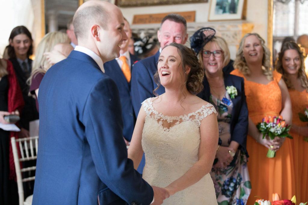bride groom marriage ceremony berkeley castle stately home venue gloucestershire oxford wedding photographer