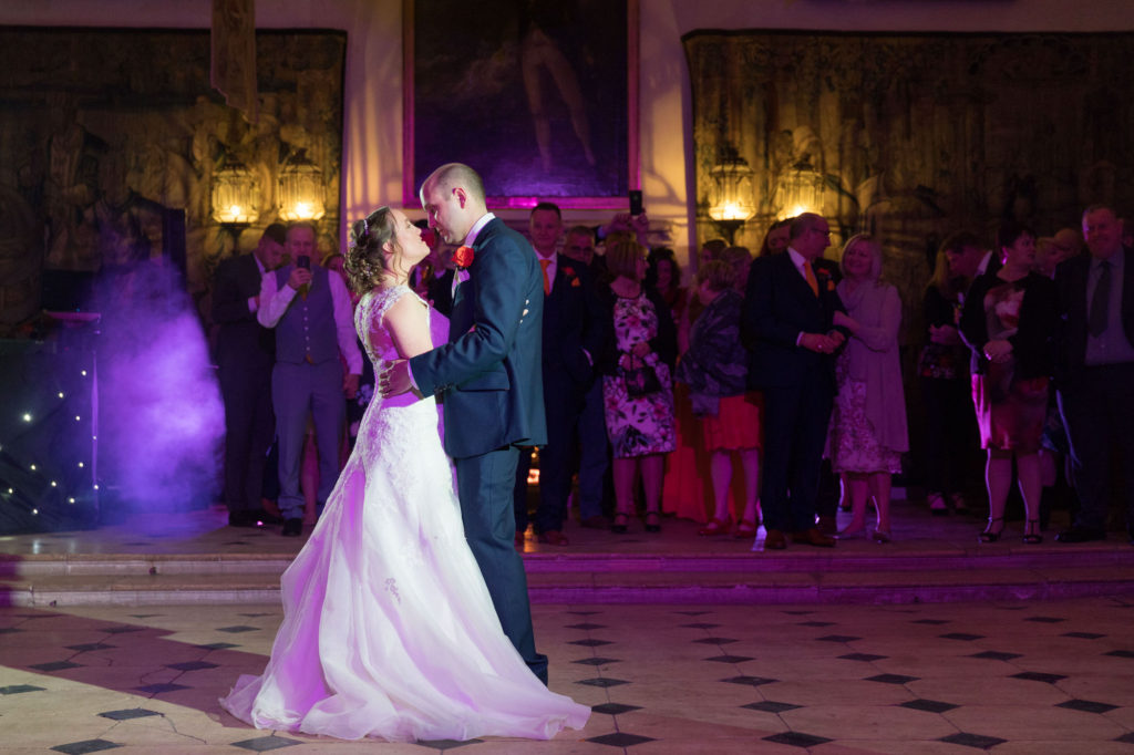 bride groom first dance berkeley castle stately home venue gloucestershire oxfordshire wedding photography
