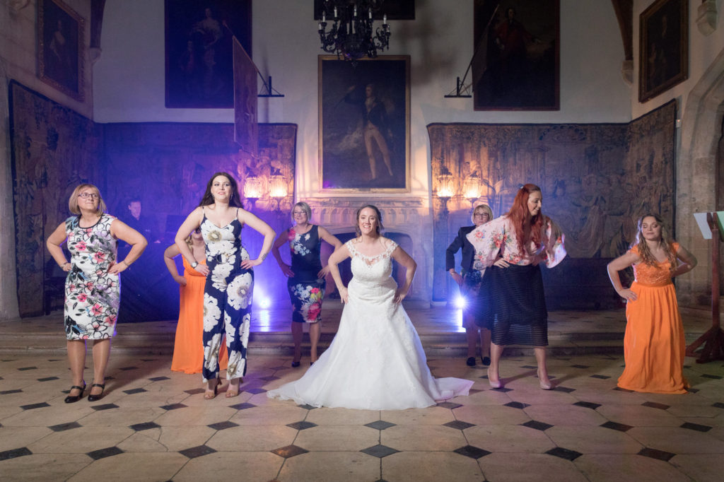 bridal party dance evening celebration berkeley castle stately home venue gloucestershire oxfordshire wedding photography