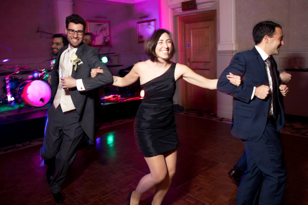 groom dances with guests st ermins hotel westminster london oxfordshire wedding photography