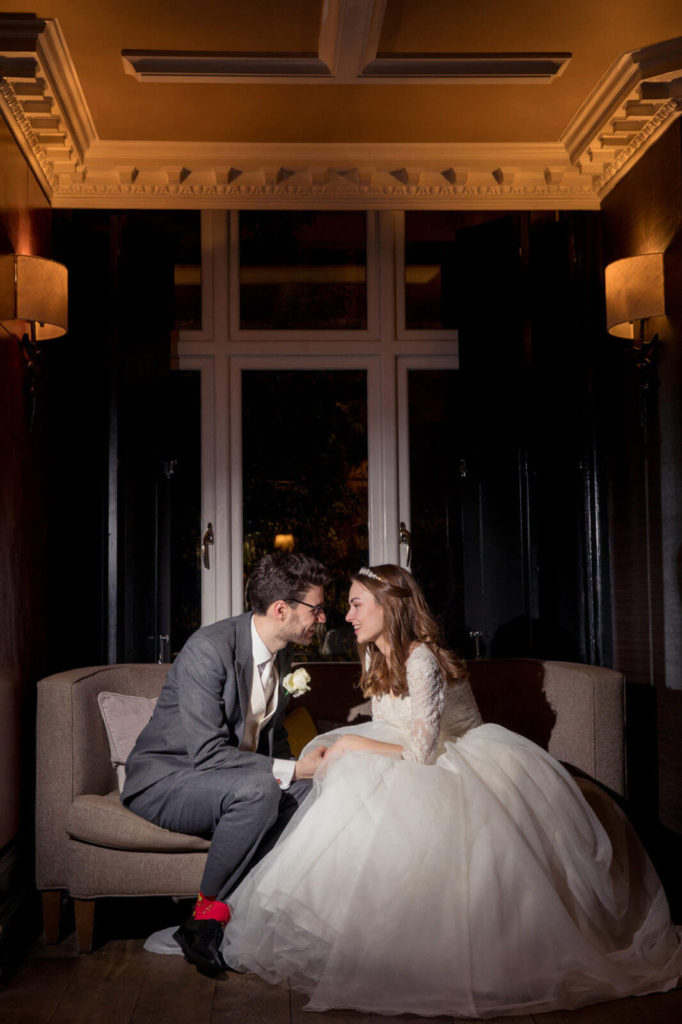 19 romantic moment for wedding couple st ermins hotel westminster london oxford wedding photographers