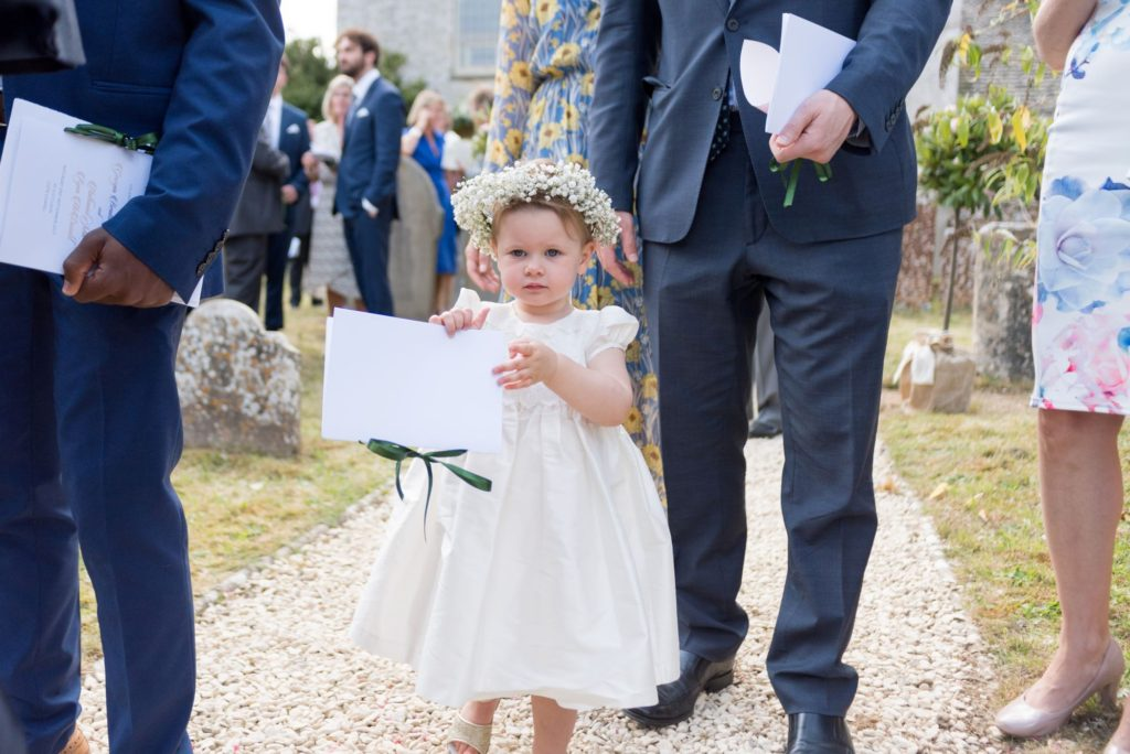 young bridesmaid floral headress cote baptist chapel grounds oxford wedding photographers