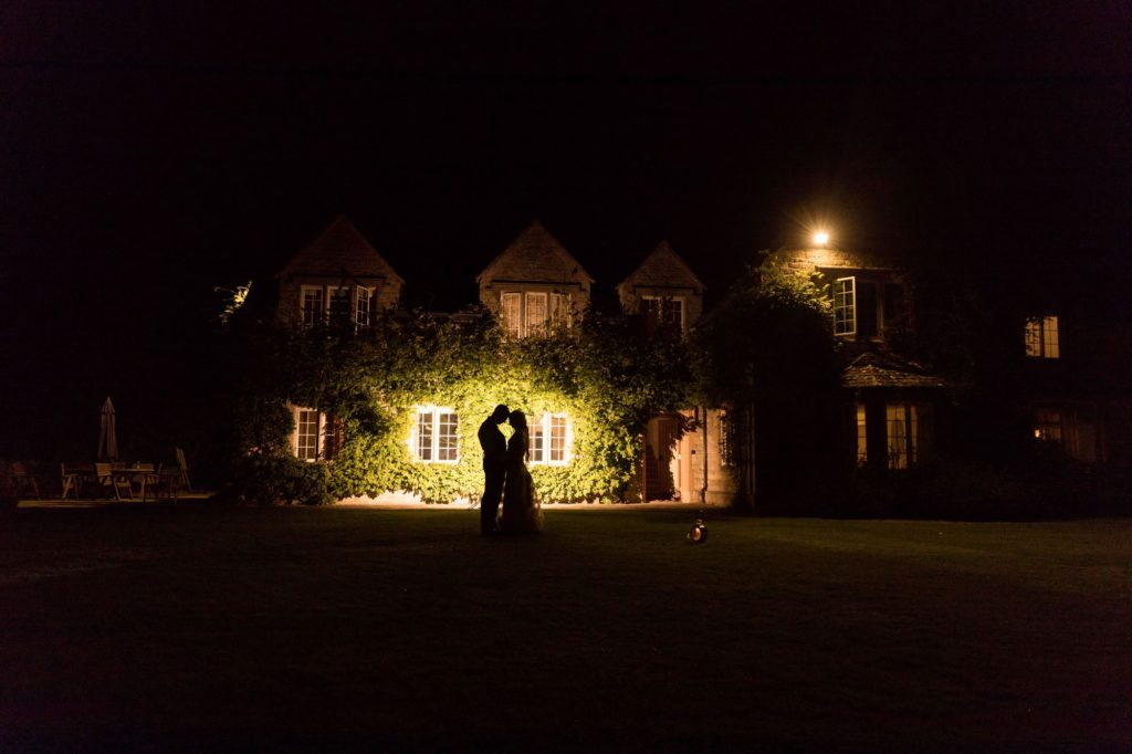 bride groom night silhoutte cote baptist chapel marriage oxfordshire wedding photographers