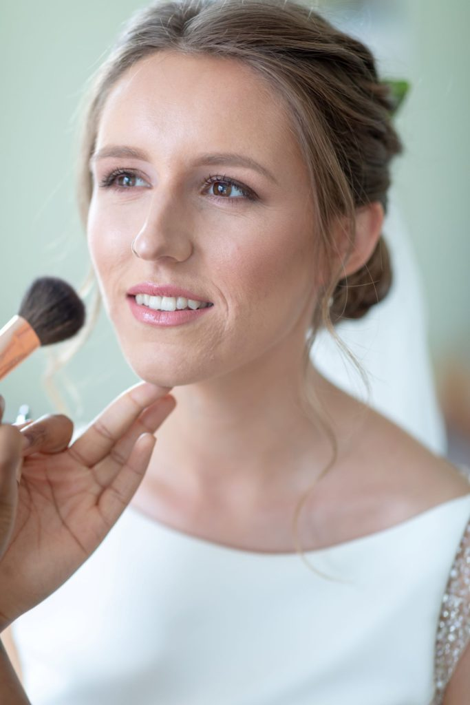 bride prep makeup st marys church ceremony marylebone london oxford wedding photographer