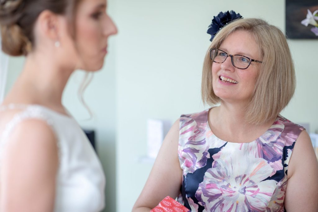 mother of bride sees dress st marys church marriage marylebone london oxford wedding photographers
