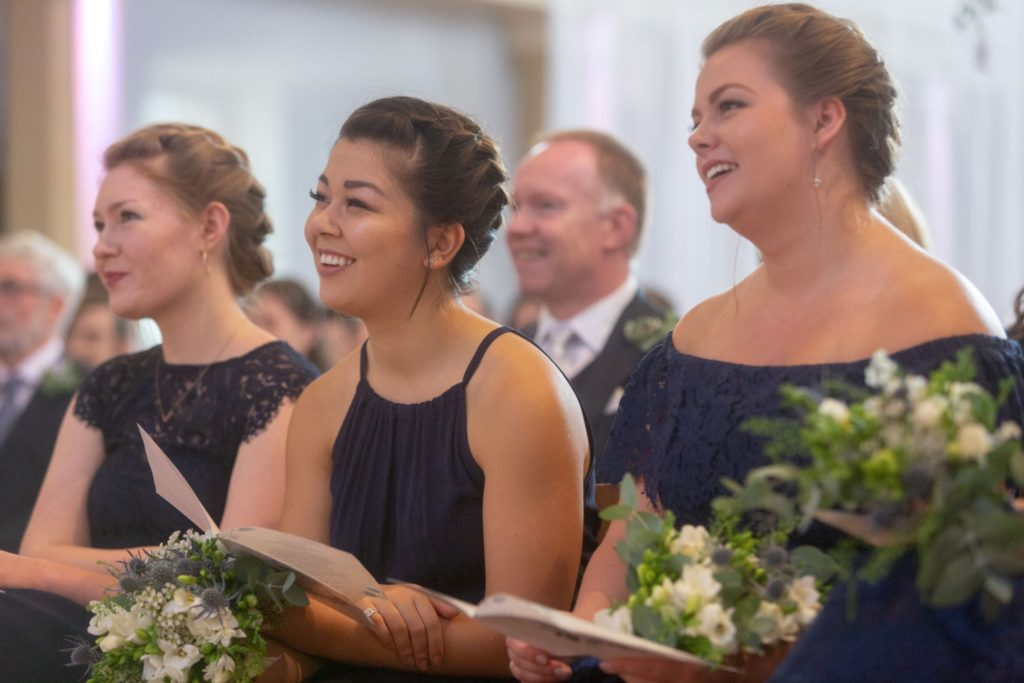 007 bridesmaids smile st marys church marylebone london oxfordshire wedding photographers