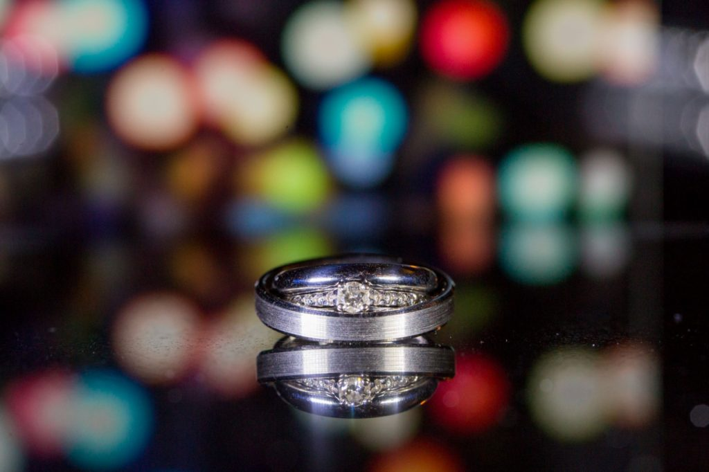 Ringswedding rings and fairy lights oxford wedding photographer